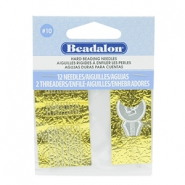 Beadalon Needles for bead cord sizes up to 0.28mm argenté
