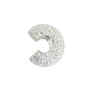 Beadalon Crimp Cover Sparkle 4mm argenté