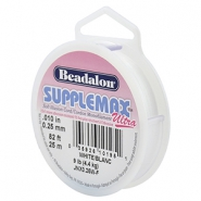 Beadalon Stringing Wire Supplemax Ultra 0.25mm 25 metre blanc
