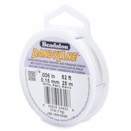 Beadalon Dandyline fil 0.15mm blanc