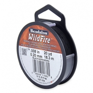 Beadalon Wildfire Wire 0.20mm noir