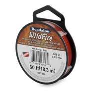 Beadalon Wildfire Wire 0.20mm rouge