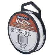 Beadalon Wildfire Wire 0.20mm blanc gel