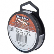 Beadalon Wildfire Wire 0.15mm noir