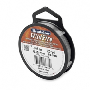 Beadalon Wildfire Wire 0.15mm gris