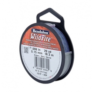 Beadalon Wildfire Wire 0.15mm bleu