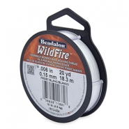Beadalon Wildfire Wire 0.15mm blanc gel