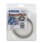 Beadalon Remembrance Memory Wire Extra Large Bracelet Acier inox clair