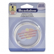 Beadalon German Style Wire 18Gauge Round argenté