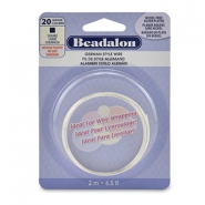 Beadalon German Style Wire 20Gauge Square Wire argenté