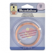 Beadalon German Style Wire 20Gauge Round cuivre