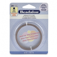 Beadalon German Style Wire 20Gauge Round Laiton antique