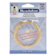 Beadalon German Style Wire 20Gauge Round doré