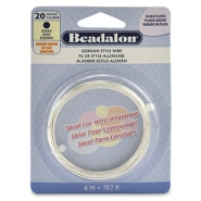 Beadalon German Style Wire 20Gauge Round argenté