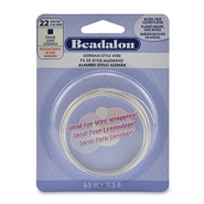 Beadalon German Style Wire 22Gauge Square Wire argenté
