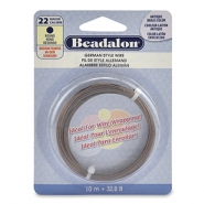 Beadalon German Style Wire 22Gauge Round Laiton antique