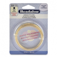 Beadalon German Style Wire 22Gauge Round doré