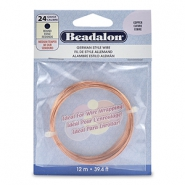 Beadalon German Style Wire 24Gauge Round cuivre