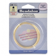 Beadalon German Style Wire 24Gauge Round doré