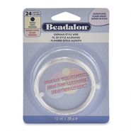 Beadalon German Style Wire 24Gauge Round argenté