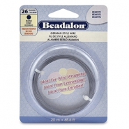 Beadalon German Style Wire 26Gauge Round hématite