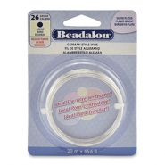 Beadalon German Style Wire 26Gauge Round argenté