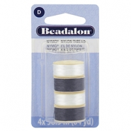 Beadalon Nymo Wire 0.3mm 4-pack blanc, noir