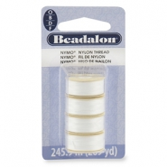 Beadalon Nymo Wire 0.3mm 4-pack blanc