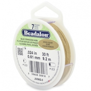Beadalon stringing wire 7 strand 0.61mm doré