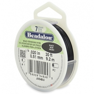 Beadalon stringing wire 7 strand 0.51mm noir