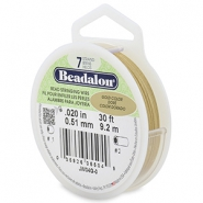 Beadalon stringing wire 7 strand 0.51mm doré