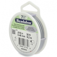 Beadalon stringing wire 7 strand 0.46mm argenté satiné
