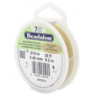 Beadalon stringing wire 7 strand 0.46mm doré