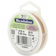 Beadalon stringing wire 7 strand 0.38mm rose argenté