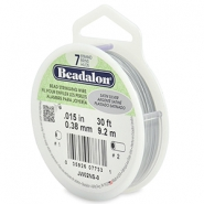 Beadalon stringing wire 7 strand 0.38mm argenté satiné