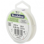 Beadalon stringing wire 7 strand 0.38mm argenté