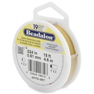 Beadalon stringing wire 19 strand 0.61mm doré