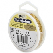 Beadalon stringing wire 19 strand 0.46mm doré