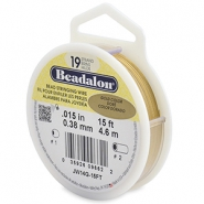 Beadalon stringing wire 19 strand 0.38mm doré