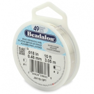 Beadalon stringing wire 49 strand 0.46mm argenté