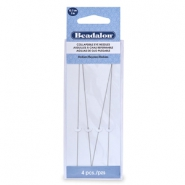Beadalon Collapsible Eye Needles 12.7mm medium argenté