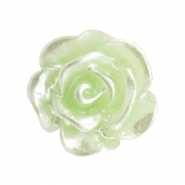 Perles roses 10mm celery ice green-plaqué argent