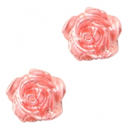 Perles roses 6mm blanc-coquille pink pearl shine