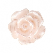 Rose beads 10mm White-Light Rose Quartz Pearl Shine