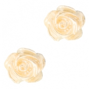 Perles roses 6mm blanc-apricot butter pearl shine