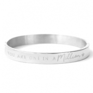 "Bracelets en acier inox ""YOU ARE ONE IN A MILLION"" argenté"