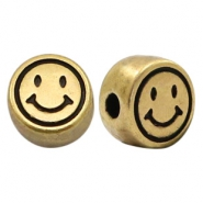 Perles alphabet en métal DQ smile bronze antique (sans nickel)