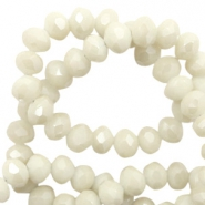 Perles à facettes 4x3 mm disque Light ginger beige-pearl shine coating