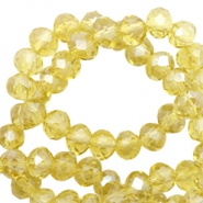 Perles à facettes 4x3 mm disque Light yellow-pearl shine coating