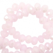 Perles à facettes 4x3 mm disque Light pink-pearl shine coating